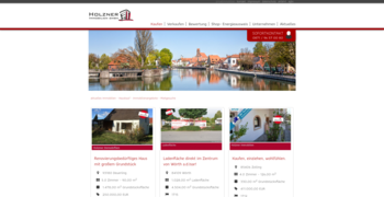 Immobilien Webseite Referenz Holzner Immobilien