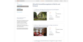 Immobilien Webseite Referenz hsmanagement